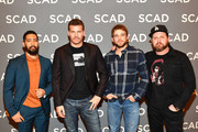 "Neil Brown Jr., David Boreanaz, Max Thieriot, and A.J. Buckley attend the ""SEAL Team"" press junket during SCAD aTVfest 2019 at Four Seasons Hotel on February 09, 2019 in Atlanta, Georgia."