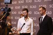"Ryan Kwanten and Noah Nelson attend the ""The Oath""press junket during SCAD aTVfest 2019 at SCADshow on February 7, 2019 in Atlanta, Georgia."