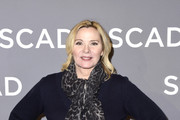 "Kim Cattrall attends the SCAD aTVfest 2020 - ""Filthy Rich"" With Kim Cattrall Icon Award Presentation on February 27, 2020 in Atlanta, Georgia."
