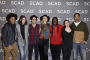 "Brent Matthews, Quincy Fouse, Kaylee Bryant, Aria Shahghasemi, Jenny Boyd, Chris Lee, Julie PlecDanielle Rose Russell, and Peyton Alex Smith attend SCAD aTVfest 2020 - ""Legacies"" on February 29, 2020 in Atlanta, Georgia."
