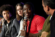 "Quincy Fouse, Kaylee Bryant, Chris Lee, Peyton Alex Smith and Brent Matthews attend SCAD aTVfest 2020 - ""Legacies"" on February 29, 2020 in Atlanta, Georgia."