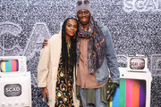 """Tika Sumpter and Miss J Alexander attend the SCAD aTVfest 2020 - """"Mixed-ish"""" Panel on February 29, 2020 in Atlanta, Georgia."""
