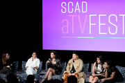 "(L-R) Melissa Barrera, Mishel Prada, Ser Anzoategui, Chelsea Rendon and Roberta Colindrez  speak onstage at SCAD aTVfest 2020 - ""VIDA"" on February 28, 2020 in Atlanta, Georgia."