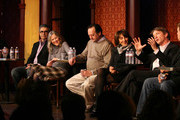 Harold Ramis, Eugene Levy, Catherine O'Hara, Jo Flanerty, Andrea Martin and Martin Short attend an SCTV panel discussion in celebration of the 50th anniversary of Second City at 1616 N. Wells Avenue on December 12, 2009 in Chicago, Illinois.