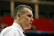 Head coach Billy Donovan of the Florida Gators walks off the court after their 72-49 win over the Missouri Tigers during the quarterfinals of the SEC Men's Basketball Tournament at Georgia Dome on March 14, 2014 in Atlanta, Georgia.