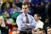 Head coach Billy Donovan of the Florida Gators looks on as he coaches against the Mississippi State Bulldogs during the quarterfinals of the SEC Men's Basketball Tournament at the Bridgestone Arena on March 12, 2010 in Nashville, Tennessee.