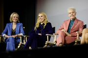 (L-R)  Barbara Garrick, Zosia Mamet, and Garcia speak onstage after the Tales of the City Premiere, at the Castro Theater on April 10, 2019 in San Francisco, California.