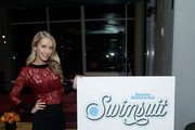 Actress, model and Miss USA 2015 Olivia Jordan attends the SI Swimsuit 2018 Model Search celebration and preview of the Sports Illustrated Swim and Active Collection at Mr. Purple in Hotel Indigo LES November 1, 2017 in New York City.