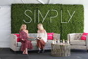 Actor Ashley Greene (L) and Global Editor-in-Chief at NYLON Gabrielle Korn speak onstage during SIMPLY Los Angeles Fashion + Beauty Conference Powered By NYLON at The Grove on July 15, 2017 in Los Angeles, California.