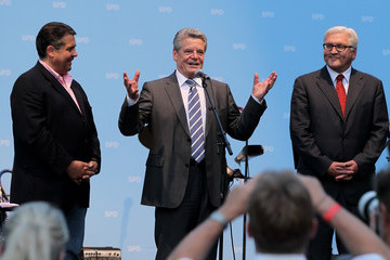 Frank-Walter Steinmeier Joachim Gauck SPD Reception Ahead Of Presidential Election