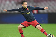 Giuseppe Rossi of Genoa CFC controls the ball during the serie A match between SSC Napoli v Genoa CFC at Stadio San Paolo on March 18, 2018 in Naples, Italy.