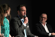 """(L-R) Actors Hayley Atwell, Matthew Macfadyen and Execuctive producer of """"Howards End"""" Colin Callender speak onstage during the STARZ """"Counterpart"""" & """"Howards End"""" FYC Event at LACMA on May 23, 2018 in Los Angeles, California."""