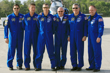 Gregory H. Johnson STS-134 Astronauts Arrive At Cape Canaveral For Pre-Launch Tests