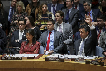 Sacha Sergio Llorenty Soliz UN Security Council Votes On US And Russian Resolutions After Syria Gas Attack