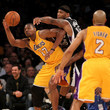 Derek Fisher and Andrew Bynum Photos