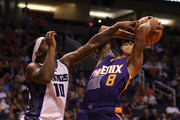 Tyler Ulis #8 of the Phoenix Suns is fouled by Ty Lawson #10 of the Sacramento Kings as he attempts a shot during the second half of the NBA game at Talking Stick Resort Arena on October 26, 2016 in Phoenix, Arizona. The Kings defeated the Suns 113-94.  NOTE TO USER: User expressly acknowledges and agrees that, by downloading and or using this photograph, User is consenting to the terms and conditions of the Getty Images License Agreement.