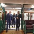 Sadiq Khan The Prince Of Wales And The Duchess Of Cornwall Visit The London Transport Museum