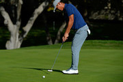 Danny Lee of New Zealand putts on the eighth hole during the second round of the Safeway Open at the North Course of the Silverado Resort and Spa on October 5, 2018 in Napa, California.
