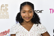 Laya DeLeon Hayes attends the Sage Launch Party Co-Hosted by Tiger Beat at El Rey Theatre on July 14, 2018 in Los Angeles, California.