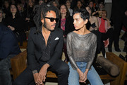 (EDITORIAL USE ONLY) Lenny Kravitz and Zoe Kravitz attend the Saint Laurent show as part of the Paris Fashion Week Womenswear Fall/Winter 2020/2021 on February 25, 2020 in Paris, France.