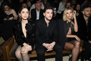 (EDITORIAL USE ONLY) Lily Collins, Kit Harington and Hailey Baldwin attend the Saint Laurent show as part of the Paris Fashion Week Womenswear Fall/Winter 2020/2021 on February 25, 2020 in Paris, France.