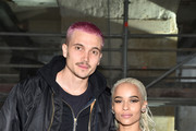 Karl Glusman and Zoe Kravitz attend the Saint Laurent show as part of the Paris Fashion Week Womenswear Fall/Winter 2017/2018 on February 28, 2017 in Paris, France.