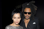 (EDITORIAL USE ONLY) Zoe Kravitz and Lenny Kravitz attend the Saint Laurent show as part of the Paris Fashion Week Womenswear Fall/Winter 2020/2021 on February 25, 2020 in Paris, France.