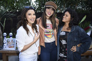"""Eva Longoria, Eiza Gonzalez and Justina Adorno attend Sakara Life + Rothy's Celebrate """"Eat Clean Play Dirty"""" Cookbook Launch on April 16, 2019 in Beverly Hills, California."""