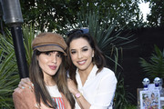 """Eiza Gonzalez and Eva Longoria attend Sakara Life + Rothy's Celebrate """"Eat Clean Play Dirty"""" Cookbook Launch on April 16, 2019 in Beverly Hills, California."""