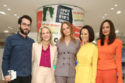 (L-R) Jonathan Safran Foer, Tracy Margolies, Stella McCartney, Alina Cho, and Roopal Patel attend Stella McCartney in Conversation with Jonathan Safran Foer and Alina Cho, hosted by Saks Fifth Avenue on October 30, 2019 in New York City.