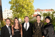 """(L-R) Chadi Zeneddine, Lauren Mekhael, Alexandre Mallet-Guy, Hanaa Issa and Doha Film Institue CEO Fatma Al Remaihi attend a dinner to celebrate Asghar Farhadi's """"The Salesman (Forushande)"""", which premiered at the annual 69th Cannes Film Festival at Club Silencio on May 21, 2016 in Cannes, France."""