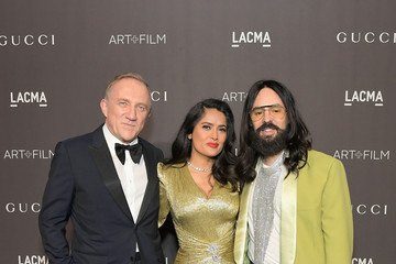 Salma Hayek Alessandro Michele 2018 LACMA Art + Film Gala Honoring Catherine Opie And Guillermo Del Toro Presented By Gucci - Red Carpet