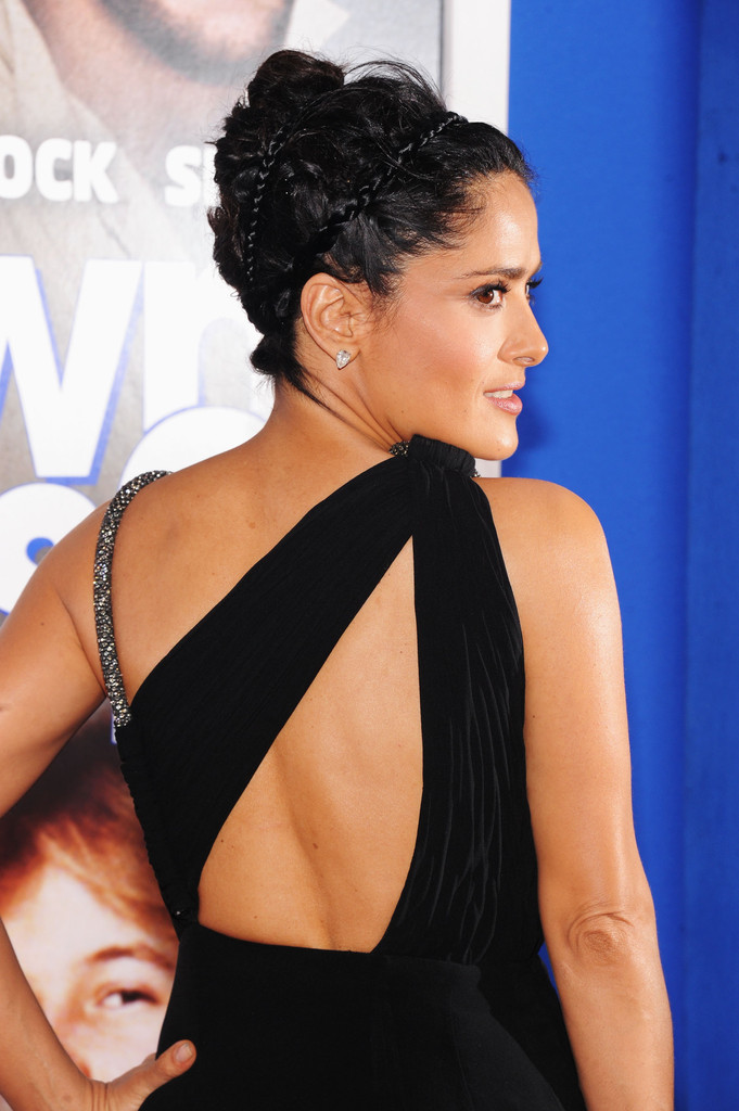 Salma Hayek Schools Us on How to Wear a Braided Headband