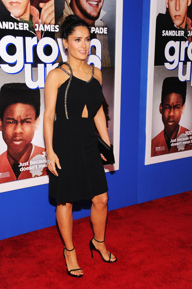 'Grown Ups 2' Premieres in NYC — Part 3 [grown ups 2,red carpet,red carpet,carpet,dress,premiere,flooring,event,little black dress,cocktail dress,electric blue,salma hayek,new york,amc lincoln square theater,new york premiere]