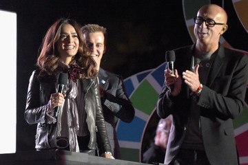 Salma Hayek 2015 Global Citizen Festival in Central Park to End Extreme Poverty By 2030 - Show