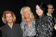 Giovanna Gentile Ferragamo (L) and Karen Mok (R) attend the Salvatore Ferragamo Spring/Summer 2012 fashion show as part Milan Womenswear Fashion Week on September 25, 2011 in Milan, Italy.