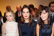 Francesca Eastwood, Carolina Gawronski and Alessandra Mastronardi attend the Salvatore Ferragamo show as part of Milan Fashion Week Womenswear Spring/Summer 2014 at  on September 22, 2013 in Milan, Italy.