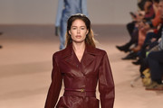 Doutzen Kroes walks the runway during the Salvatore Ferragamo fashion show as part of Milan Fashion Week Fall/Winter 2020-2021 on February 22, 2020 in Milan, Italy.