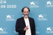 """Luca Guadagnino attends the photocall of the movie """"Salvatore - Shoemaker Of Dreams"""" at the 77th Venice Film Festival on September 06, 2020 in Venice, Italy."""