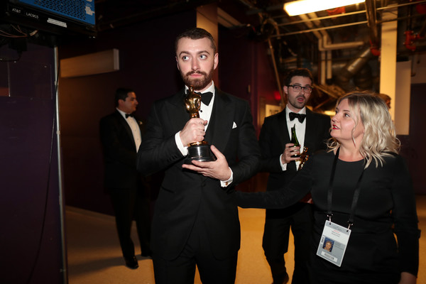 Backstage at the 2016 Academy Awards