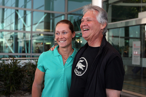 Photo of Samantha Stosur & her Father  Tony Stosur