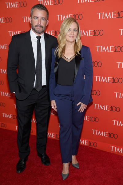 2018 Time 100 Gala - Red Carpet [red carpet,suit,red,carpet,event,formal wear,tuxedo,premiere,pantsuit,red carpet,outerwear,samantha bee,jason jones,time 100,jazz,new york city,lincoln center,time 100 gala]