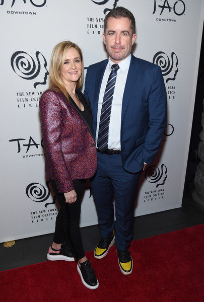 2019 New York Film Critics Circle Awards [carpet,premiere,event,red carpet,suit,flooring,style,samantha bee,jason jones,new york city,tao downtown,new york film critics circle awards,jason jones,samantha bee,photography,actor,getty images,stock photography,livingly media,\u30b9\u30c8\u30c3\u30af\u30d5\u30a9\u30c8]