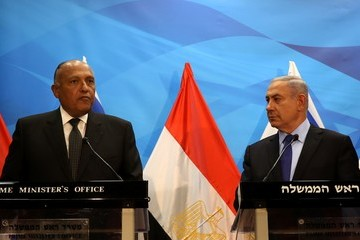 Sameh Shoukry Egyptian Foreign Minister Heads to Israel for Rare Visit