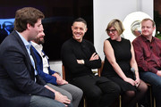 (L-R) Forbes's Alex Konrad, SamsungÕs Tom Harding, Actor Theo Rossi, LÕOrealÕs Rachel Weiss, and Oculus's Andy Mathis speak at the Samsung Gear VR 2nd Anniversary Panel on December 11, 2017 in New York City.