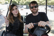Singer Sydney Sierota (L) of Echosmith and actor Timothy Simons attend the Samsung Artist House at Austin City Limits Music Festival 2015 on October 3, 2015 in Austin, Texas.