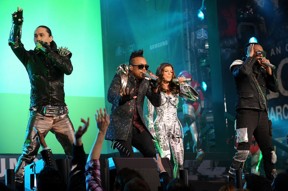 Taboo, Apl.de.Ap, Fergie, and Will.i.am perform at the Samsung Times Square Concert with THE BLACK EYED PEAS at Times Square on March 10, 2010 in New York City.