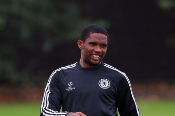 Samuel Eto'o Chelsea Training Session
