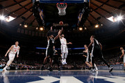 Courtney Lee #5 of the New York Knicks shoots the ball during the game against the San Antonio Spurs on January 2, 2018 at Madison Square Garden in New York, New York. NOTE TO USER: User expressly acknowledges and agrees that, by downloading and or using this Photograph, user is consenting to the terms and conditions of the Getty Images License Agreement. Mandatory Copyright Notice: Copyright 2018 NBAE