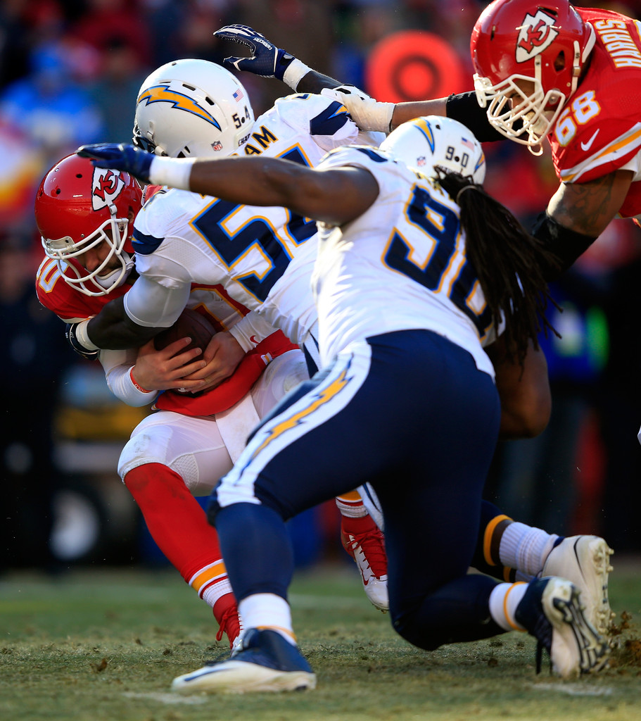 San Diego Chargers Chiefs Game: Chase Daniel And Melvin Ingram Photos Photos